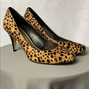 Antonio Melani Calf Hair Leopard Print Pumps.